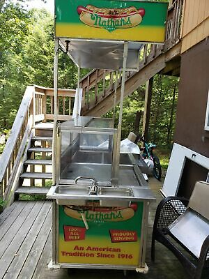 2011 Custom Nathans Hot Dog Vending Concession Cart For Sale In Pennsylvania