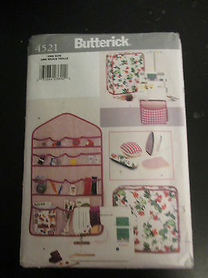 BUTTERICK SEWING PATTERN~4521~UNCUT~DESIGNER SEWING ACCESSORIES~COVER ORGANIZERS