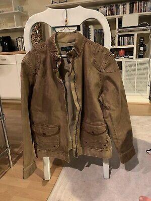 lauren jeans co brown denim jacket 16w