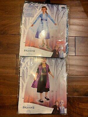 Disney FROZEN 2 ELSA & ANNA Child Costume NEW Size S 4-6X Girls Kids Dress Up
