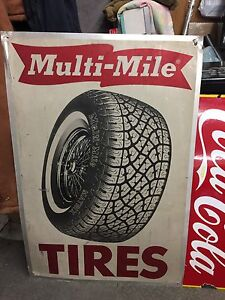Early 70s metal tire sign 306-717-9678