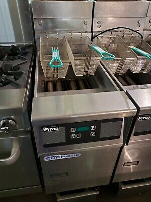 Pitco Tb-sfssh55 Solstice Nat Gas 4 Burner Fryer With Filteration Energy Star
