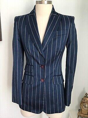 Versace Classic Blue Jacket blazer EU size 38 (UK 8) Smart Pinstripe (F13)
