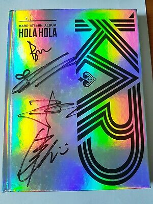 "KARD 1st Mini Album ""Hola Hola"" Official Autograph (Signed) Album - Not For Sale"
