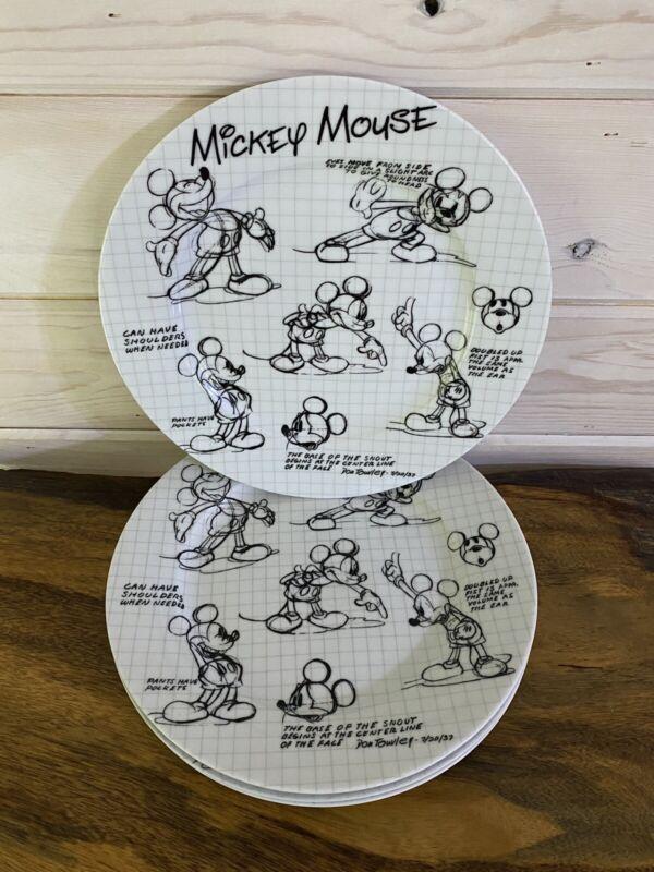 "DISNEY Sketch Book Mickey Mouse Dinner Plate 10.5"" Brand New"