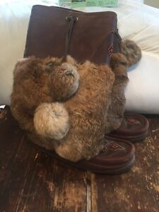 Authentic women's tall grain leather Manitobah Mukluks