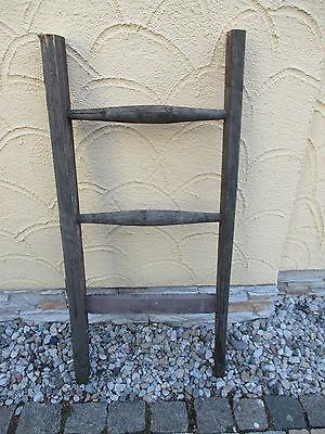 alte Holzleiter(77) Deco Blumenampel Baumleiter Handtuchhalter Kleiderhalter