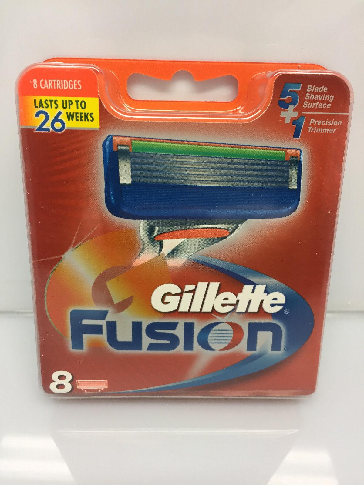 8 Gillette Fusion Rasierklingen in OVP mit Seriennummer