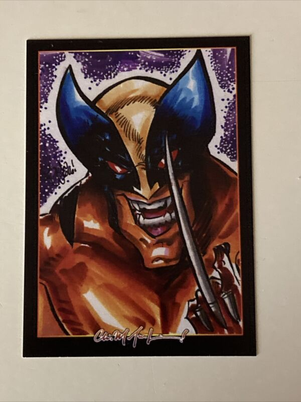 WOLVERINE Sketch Card Print 004 Signed by Chris McJunkin