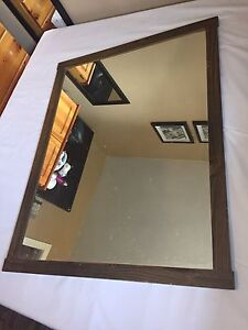 Large mirror in frame