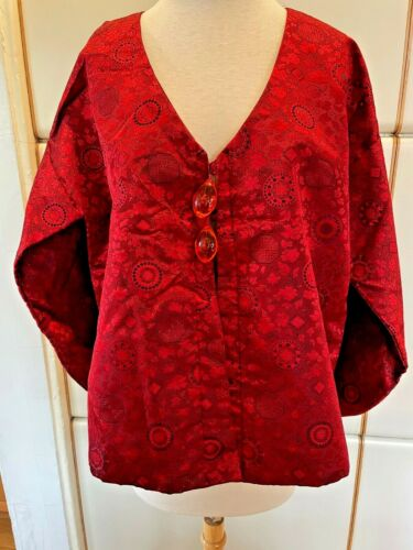 Asian Brocade Satin Short Jacket