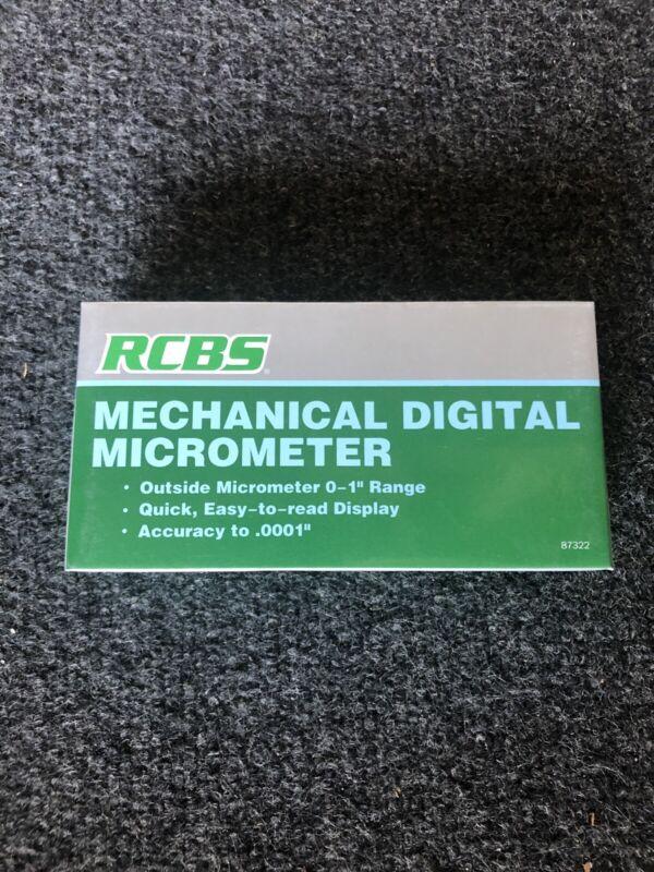 RCBS Mechanical Digital Micrometer 87332