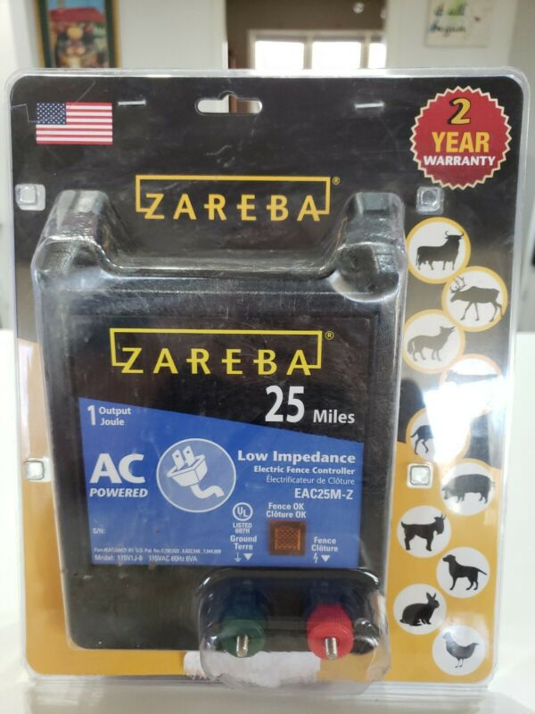Zareba Electric Fence Controller 25-Mile AC Low Impedance Fence Charger EAC25M-Z