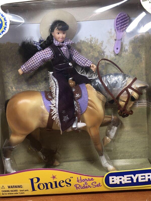 Breyer #7036 Ponies Cowgirl Horse & Rider Set 2007 NIB