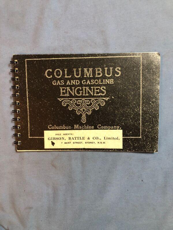 Columbus Cam Stopper Hit Miss Gas Engine Catalog Sales Book
