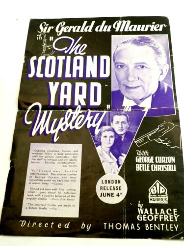 The Scotland Yard Mystery Sir Gerald du Maurier BIP Pictures Cover Poster 1934