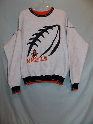 Tiger Athletic Sweatshirt - Massillon Tigers Football OH Legends Athletic Sweatshirt USA Made Stitched EUC