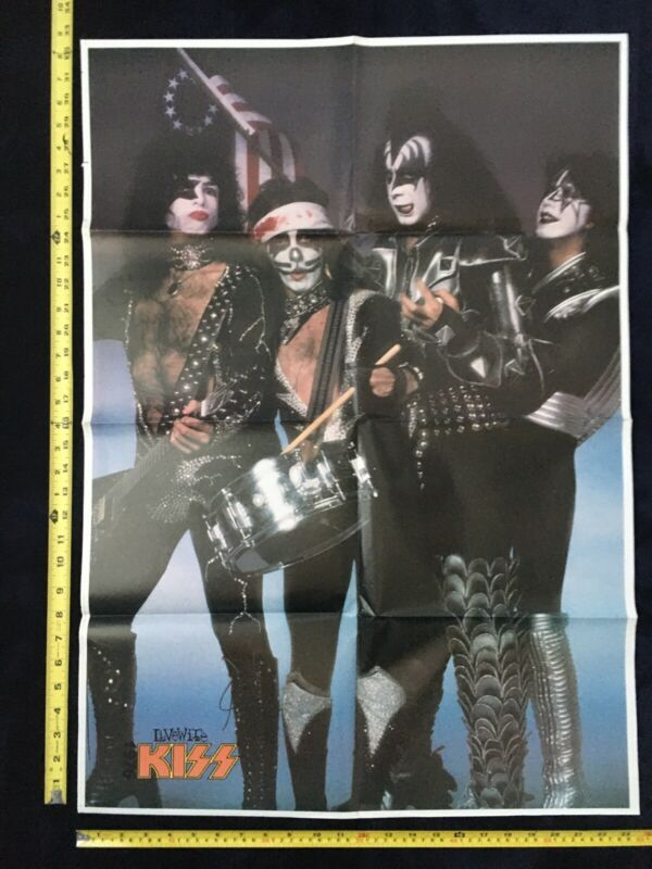 🔥KISS US TOUR Double Sided Magazine Poster!