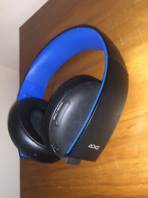 Sony PS4 Gold Wireless Headset With Dongle PlayStation 4 Black & Blue