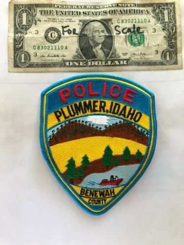 Plummer Idaho Police Patch Un-sewn in great shape