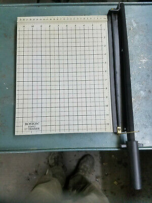 Boston 12 Trimmer 26912 Paper Cutter Gray Crafting Heavy Duty Art Crafts