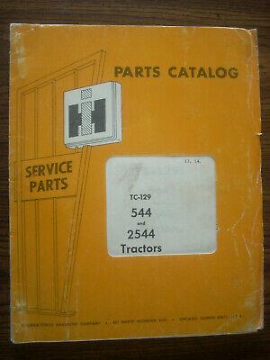 Ih Farmall Mccormick International 544 2544 Parts Manual