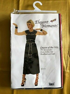 Queen Of The Nile Cleopatra Egyptian Fancy Dress Costume Sizes S & M