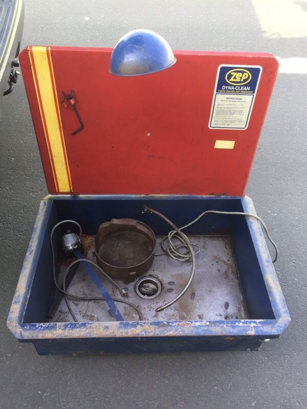 """VINTAGE ZEP DYNA-CLEAN PARTS WASHER  DEGREASER SINK STATION 36"""" x 26"""" x 11"""""""