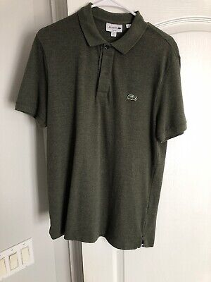 Lacoste Men's Polo Size 5 Hunter Green Slim Fit