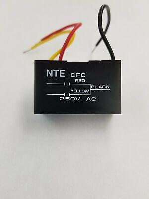 NTE CFC-3/6, 3uF + 6uF @ 125/250V AC, Dual Ceiling Fan Capacitor