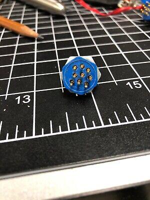 Nos Amphenol 126-012 9 Pin Female Plug 126 Series Connector Wpi