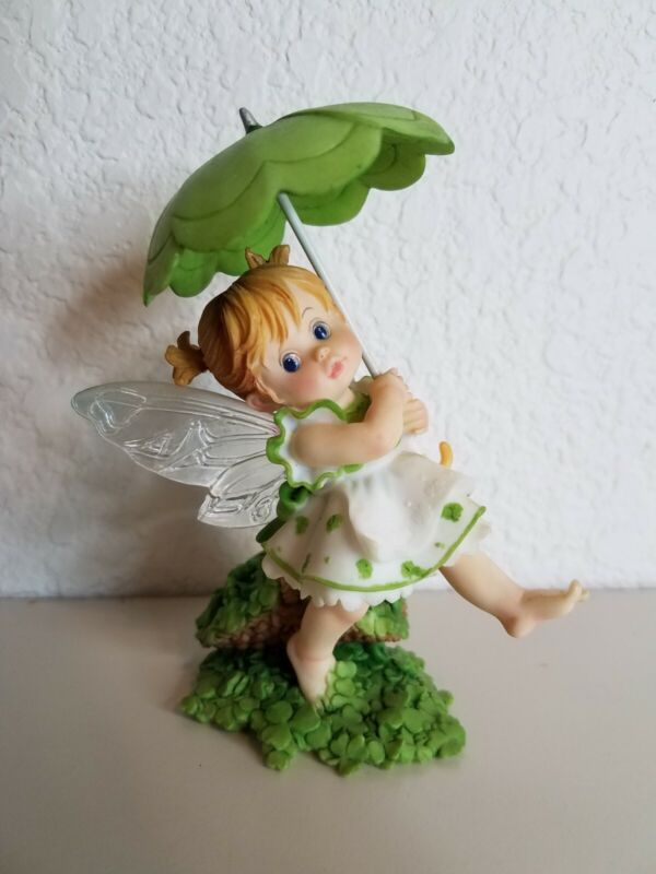2008 My Little Kitchen Fairies Shamrock Fairie Enesco 4012244 No Box Umbrella