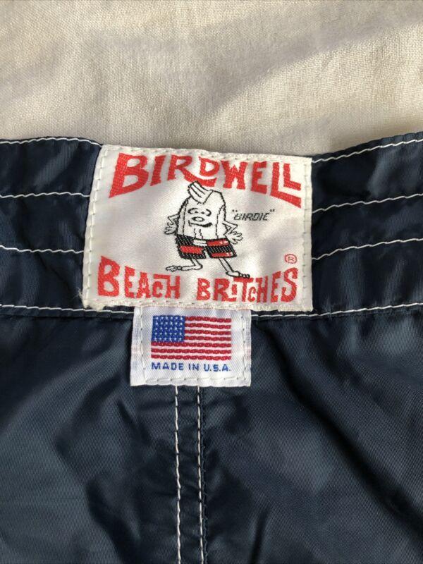 Vintage Birdwell Beach Britches Navy 32 33 Board Shorts 70s 80s