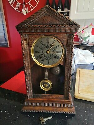 Antique Large Mantel P. H&S Clock