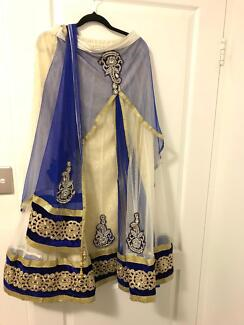 Traditional Indian Saree Outfit handmade with FREE bangles