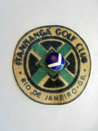 Vintage Itanmanga Golf Club Rio De Janeiro GB Brazil Patch with Enamel Pin