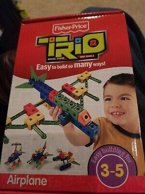 Trio Airplane t0376 Fisher-Price Bricks Sticks Panels. Brand new!
