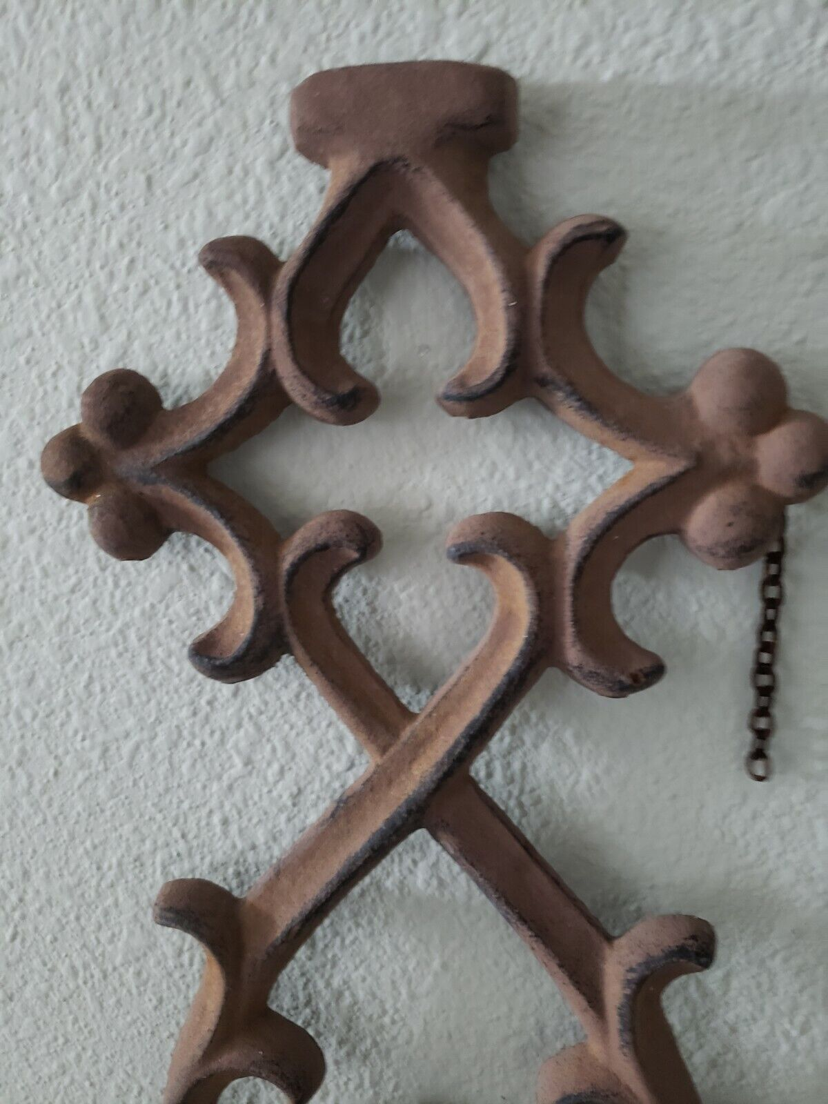 Cast Iron Wall Hanging Home Deco 7.25x28 Vintage  - $39.99