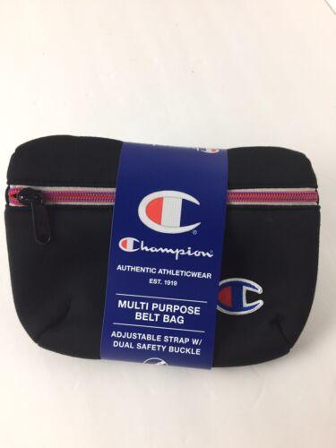 Champion Waist Bag Attribute Black Fanny Pack Men Crossbody