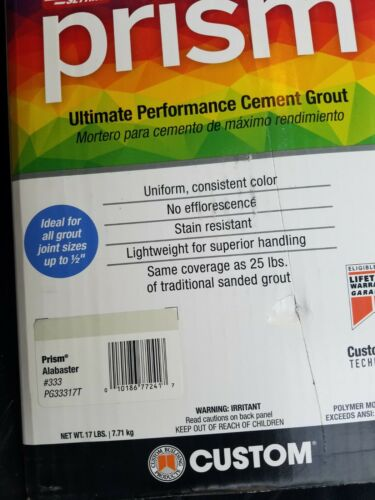 Prism Ultimate Performance Cement Grout 17 LBS Stain Resistant PICK COLOR