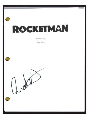 Dexter Fletcher Signed Autographed ROCKETMAN Movie Script Director COA