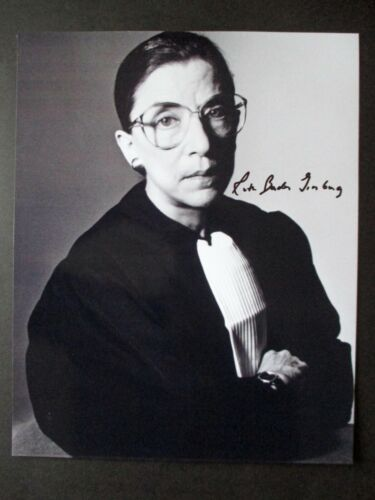 Ruth Bader Ginsburg Autographed 8x10 w/COA