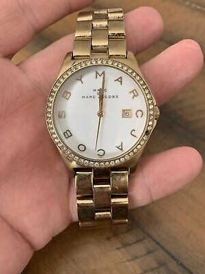 """Marc By Marc Jacobs MBM3045  Gold Tone Analog Watch Size 6 1/4"""" Used"""