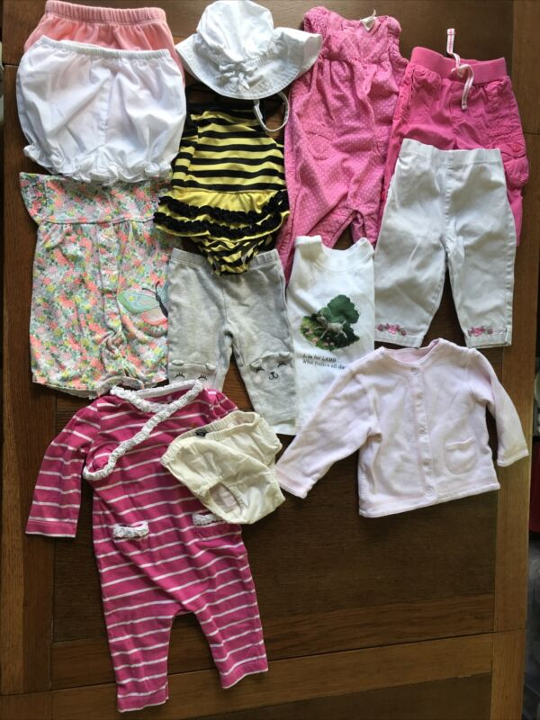 Lot Of 13 Pieces  Baby Girl Clothing 3 Months 6 Months