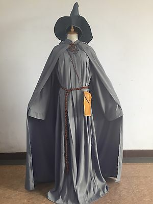 Gandalf Halloween Costume (Lord of the Rings Gandalf Wizard Halloween Cosplay Costume Mens Fancy)