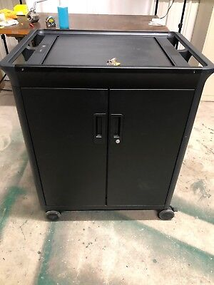 HP ERGOTRON 20 LAPTOP MANAGED CART W/ CHARGERS AND SWITCH SCV345G024