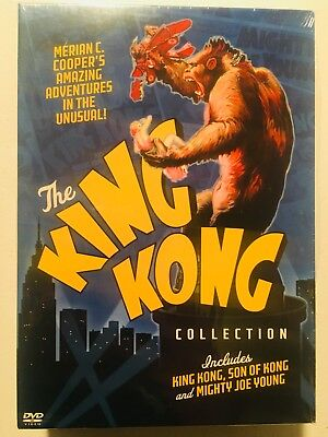 The King Kong Collection (3 Film DVD Set) Original, Son Of, Mighty Joe Young NEW