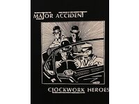 Major Accident Clockwork Heroes Back Patch NEW Clockwork Punk Droogie British Oi
