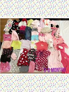 Girls 3-6 months clothing lot.