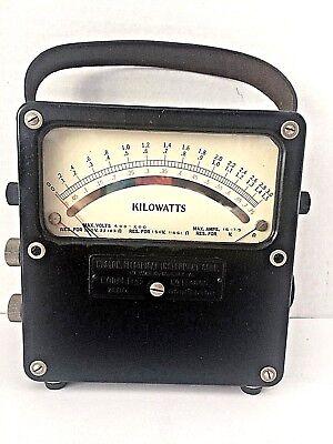 Weston Electrical Voltmeter Ammeter Model 432 No. 14600